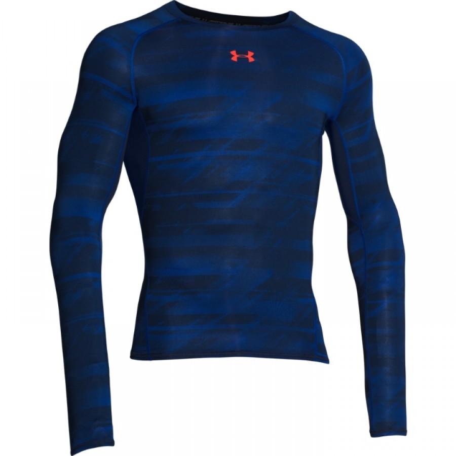 750ca901 Under Armour Mens Heatgear Armour Printed Long Sleeve Compression Shirt