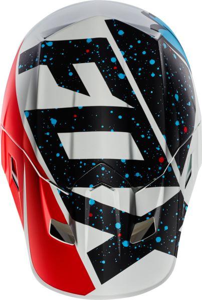 Fox Racing MX18 V1 Race Replacement Helmet Visor Blue//White//Yellow