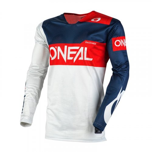 O/'NEAL Element RACEWEAR MTB Jersey Trikot atmungsaktiv oversize red-grey